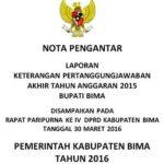 Nota Pengantar LKPJ Bupati Bima Akhir Tahun Anggaran 2015