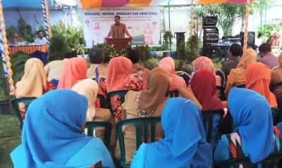 Walikota Bima saat memberikan sambutan pada acara Lomba Cipta Menu B2SA. Foto: Bin