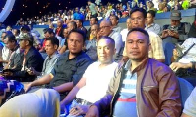 Pejabat Pemkot Bima saat berada di dalam studio 5 Indosiar