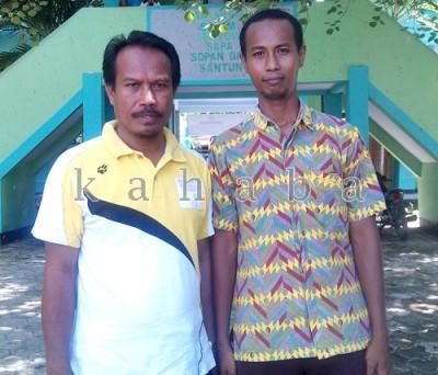 Pembina Bahasa Inggris MAN 1 Kota Bima, Samsudin bersama Wakasek Kesiswaan, A.Farid. Foto: Eric