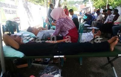 Pendonor pada kegiatan FPPL Kelurahan Lewirato. Foto: Bin