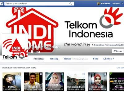 Akun Facebook Telkom Kandatel Bima