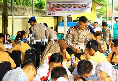 Bina Pelajar yang dilakukan Lantas Polres Bima. Foto: Deno