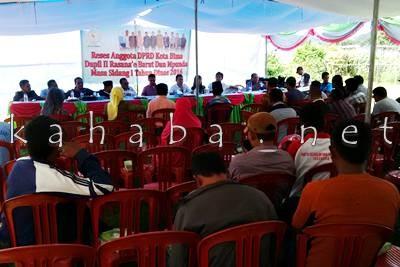 DPRD Kota Bima Dapil II saat Reses di Mande. Foto: Bin