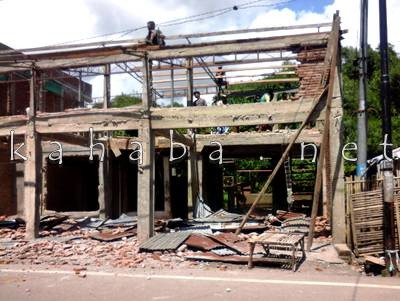 Eksekusi rumah di Kelurahan Rabadompu Timur. Foto: Deno