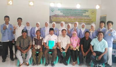 Foto bersama usai acara penarikan Mahasiswa PKL Poltekes Mataram.