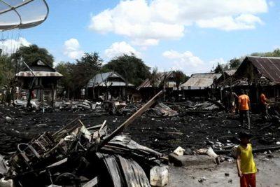 Kebakaran di Desa Samili. Foto: Ady