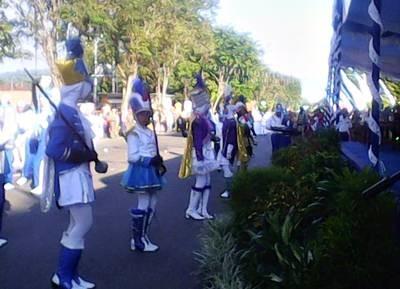 Peserta Drumband pelajar. Foto: Hum