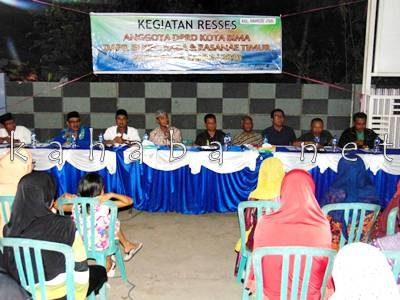 Reses Anggota DPRD Kota Bima Dapil III di Kelurahan Rabangodu Utara. Foto: Ady