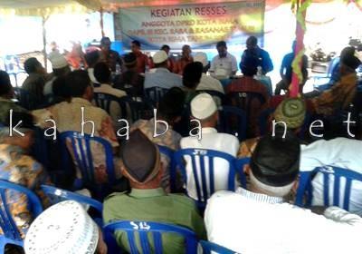 Reses Dewan Dapil III di Kelurahan Kodo. Foto: Noval