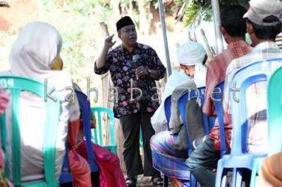 H. Sutarman Saat Sosialisasi di Kelurahan Nitu. Foto: Bin