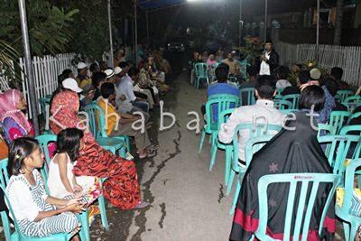 H. Sutarman saat silahturahim di Kelurahan Rabangodu Selatan. Foto: Bin