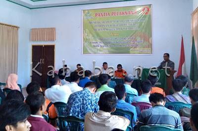 Ketua Umum Pimpinan Pemuda Muhammadiyah Kota Bima Eka Iskandar Zulkarnain saat memberikan sambutan. Foto: Eric