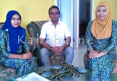 Ketua Yayasan Akbid Surya Mandiri Bima, H.Jubair didampingi Direktur Saraswati Haylan Chiani (Kanan). Foto: Eric