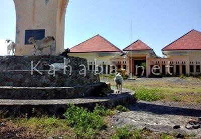 Kondisi bangunan KTM Tambora dijaga kambing. Foto: Ady