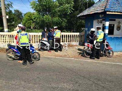 Operasi Patuh Gatarin digelar Polres Bima. Foto: Deno