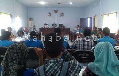 PMII saat audiensi dengan DPRD Kota Bima. Foto: Eric