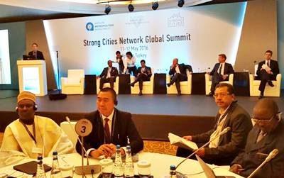 Walikota Bima saat menghadiri acara SCN Global Summit 2016 di Turki. Foto: Hum