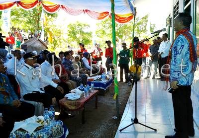 Wijanarko Setiawan saat memberikan sambutan. Foto: Noval