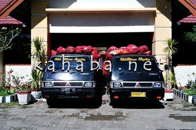 Bawang merah diatas Pick up  depan Kantor Bulog Bima. Foto: Bin