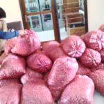 Petani Buang Bawang Merah di Kantor Bulog
