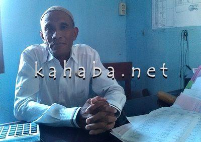 Kabid Pengembangan Nilai Kebangsaan Bakesbangpol Kota Bima, Amirudin. Foto: Eric