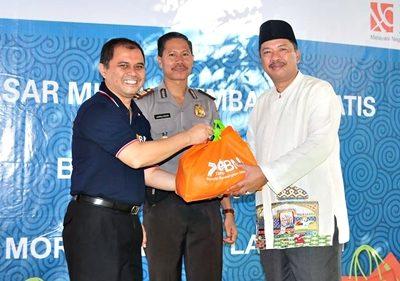 Kepala BNI Cabang Bima bersama Walikota Bima. Foto: Eric