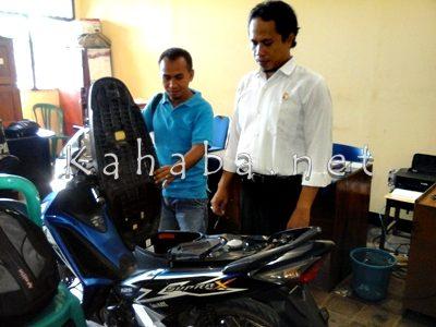 Motor yang diamankan Polisi dari Sukri, penadah Curanmor. Foto: Deno