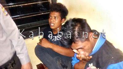 Pelaku yang diduga Curanmor saat diamankan di Polsek Rasanae Barat. Foto: Deno