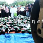 Polres Bima Hancurkan 2.402 Botol Miras