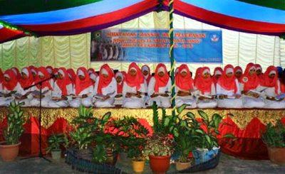 Perpisahan dan Khataman massal siswa SMPN 6 Kota Bima. Foto: Eric