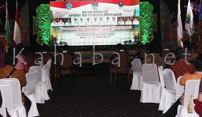 Rakor kegiatan Muskomwil IV Apeksi di Denpasar. Foto: Bin