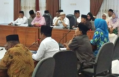 Silahturahim Bupati Bima dan jajaran dengan DPRD Kota Bima. Foto: Hum