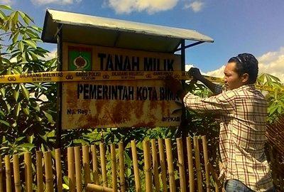 Tanah Milik Pemkot Bima di Kelurahan Peneraga Disita Polisi.