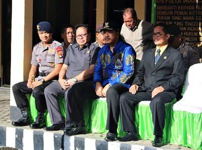 Walikota Bima saat menghadiri Apel Pasukan Ramadniya Gatarin. Foto: Hum