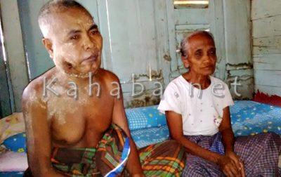 Duhami, penderita Kanker saat bersama isteri. Foto: Bin