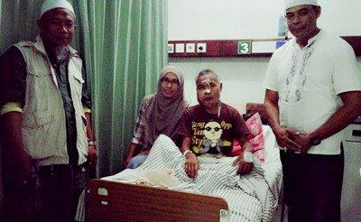 Duhami saat dirawat di RS Sanglah Denpasar. Foto: Shalma Qerr (Facebook)