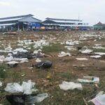 Area Pasar Amahami Berubah jadi TPA Sampah