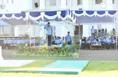 Walikota saat pimpin upacara Koperasi. Foto: Hum