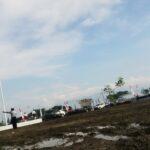 Kondisi Lapangan Upacara HUT Bima, Becek