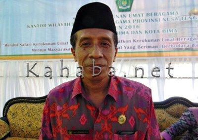 Kepala Kantor Kemenag Kota Bima, H Syahrir. Foto: Ady