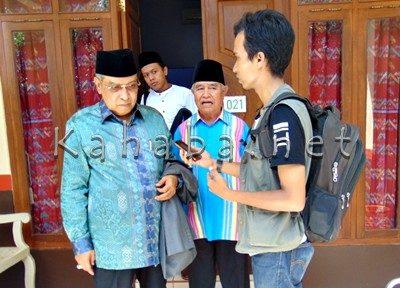 Ketua PBNU KH Said Aqil Siradj saat diwawancara wartawan Kahaba.net. Foto: Noval