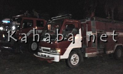 Mobil Damkar disiagakan disekitar Kampung Sigi. Foto: Noval