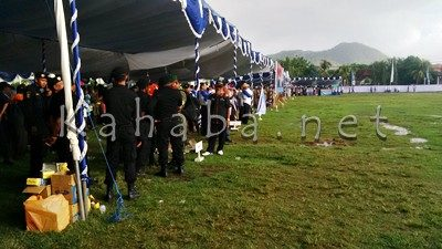 Peserta yang hadir saat Upacara Hari Anti Radikalisme dan Terorisme di Kota Bima. Foto: Bin