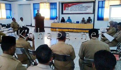 Rakor Pemutakhiran Data Pemilih yang digelar KPU bersama Camat dan Lurah. Foto: Bin