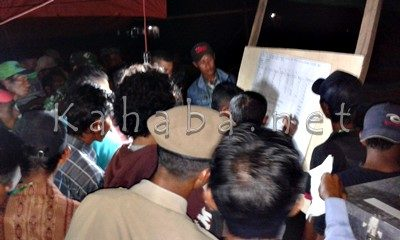 Rekapitulasi perolehan suara di Desa Kananta. Foto: Noval