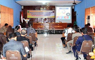 Sosialisasi SIPD yang digelar Dishubkominfo Kabupaten Bima. Foto: Hum