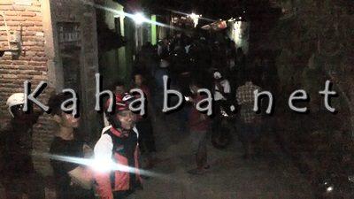 Suasana pasca pelemparan di Kampung Sigi. Foto: Bin