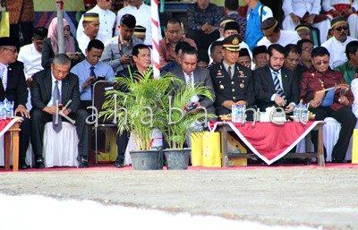 Tamu kehormatan saat upacara Hari Jadi Bima ke-376. Foto: Bin