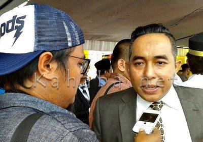 Wakil Ketua DPRD Provinsi NTB Mori Hanafi saat diwawancarai. Foto: Noval